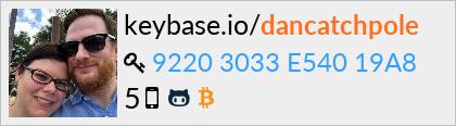 keybase.io profile for dancatchpole